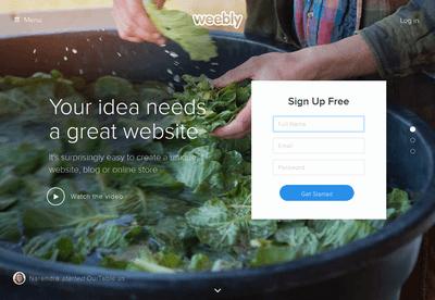 直感的にサイト作成が可能「Weebly」のイメージ