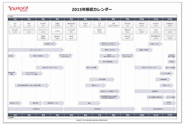 2015年間カレンダーのイメージ
