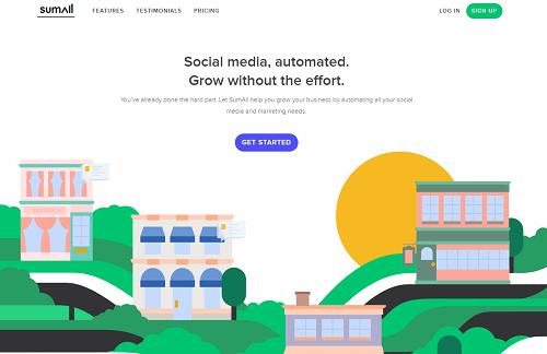 SumAllのトップページ