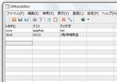 DMcsvEditorの画面イメージ